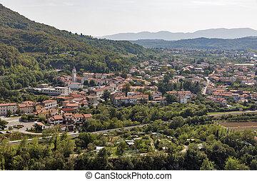 Solkan townscape in Slovenia. - Solkan townscape, a village...