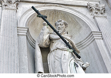 Church del Santissimo Redentore facade wall statue in...