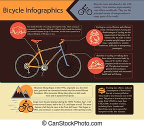 Bike infographic. Vector illustration. - Bike infographic....