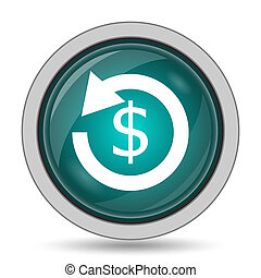 Refund icon. - Refund icon, website button on white...