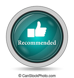 Recommended icon, website button on white background.