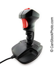 Classic joystick on white background