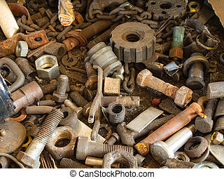 Metallurgical waste - Closeup of metallurgical waste in a...
