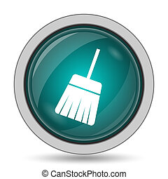 Sweep icon, website button on white background.