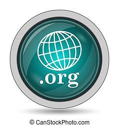.org icon, website button on white background.