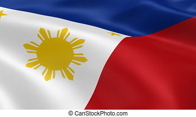 Philippines flag in the wind. Part of a series.