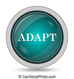 Adapt icon, website button on white background.