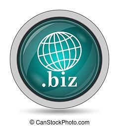 .biz icon, website button on white background.