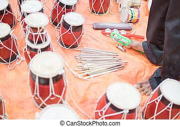 Tabla, handicraft items on display , Kolkata - Tablas ,...