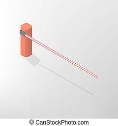 Barrier isometric, vector illustration. - The barrier...