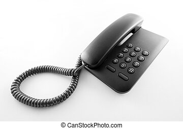 Black office telephone