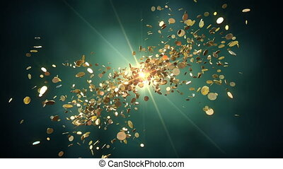 Coins fight - Animation shows the coins flying towards the...