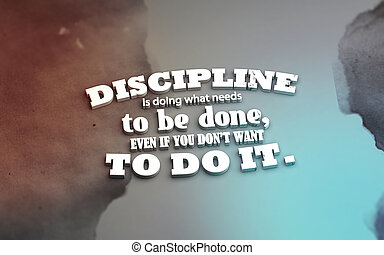 3D Motivational poster - Discipline is doing what needs to...