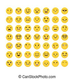 Set of emoticons. Big collection with different expressions....