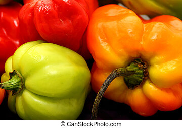 Scotch bonnet Chillies - variety of scotch bonnet peppers or...