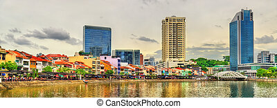 Boat Quay, a historical district of Singapore - Boat Quay, a...