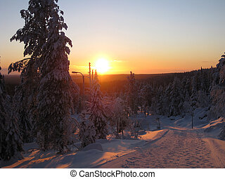 Winter Sunrise in Finland