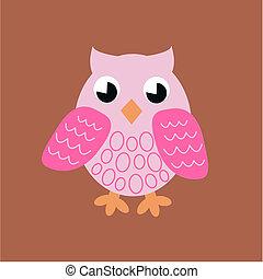 Cor-de-rosa, coruja