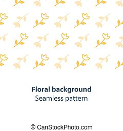 Yellow flowers fancy backdrop pattern - Seamless subtle...