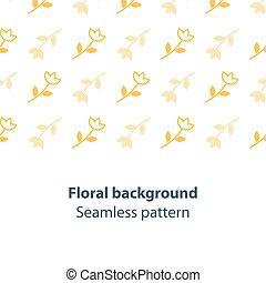 Yellow flowers fancy backdrop pattern - Seamless subtle...
