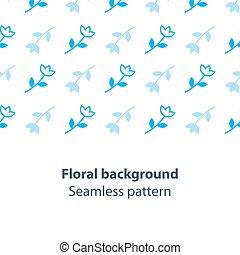 Blue flowers fancy backdrop pattern