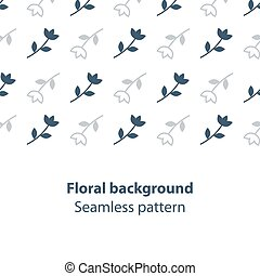 Elegant flowers fancy backdrop pattern - Seamless subtle...