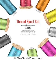 Thread Spool Banner Circle Border. Place For Text. Stock...
