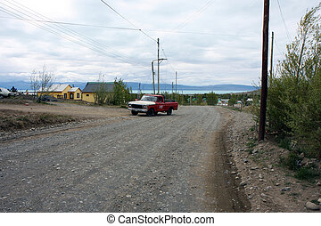 El Calafate town view - View in the town of El Calafate in...