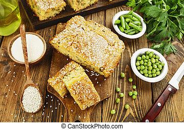 legumes, Torta,  semolina
