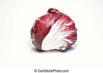 Radicchio - Italian red radicchio isolated on white...