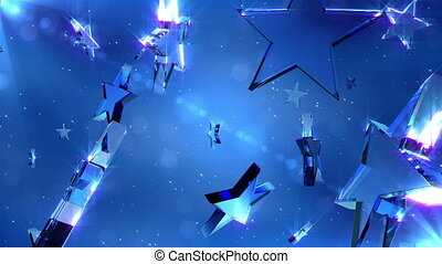 Loopable crystal stars - High quality loopable background....