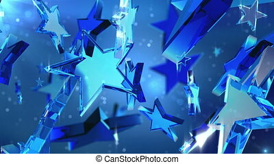 Loopable crystal stars. - High quality loopable background....