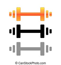 Barbell Icon - Barbell Concept Design, AI 10 Supported.
