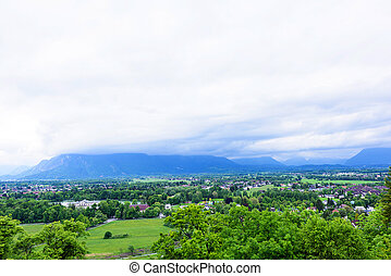 Alps Mountains view in Salzburg - Alps Mountains view with...