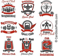 Athlete bodybuilder and weight sport icon