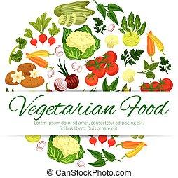 Vegan or vegetarian vegetable food banner - Healthy...
