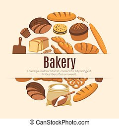 Cereal bread or pastry food banner - Pastry food and baked...