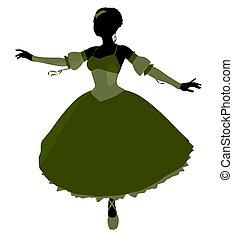 Ballerina Illustration Silhouette