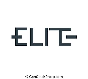 Elite Logo concept - Elite Logo Concept. AI 10 Supported.