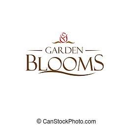Garden Blooms Logo Concept.  AI 10 supported.