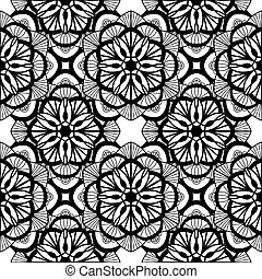 Coloring book Doodle vector flowers Pattern