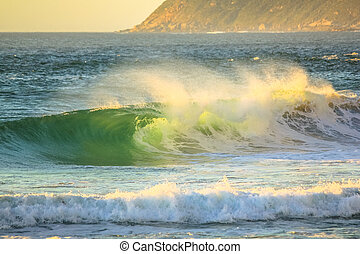 Powerful waves background