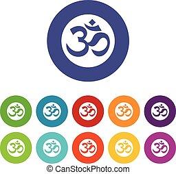 Symbol Aum set icons