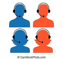 Call Center Icon Set - Call Center Icon Design, AI 8...