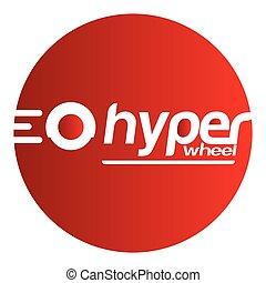 Hyper Wheel Sticker, Design, AI 8 supported.