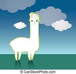 Cute Lama Character Design. EPS 8 supported.