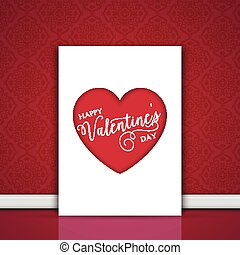 valentines day card leaning against a wall 2001 - Decorative...