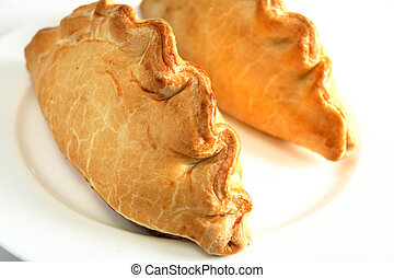 Cornish pasties - Traditional Cornish pasties; filled with...