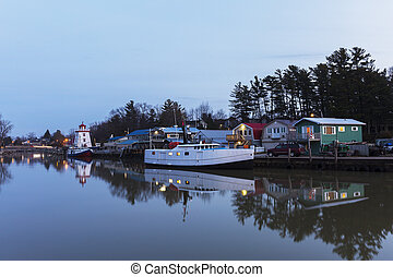 Lake Huron Harbour in Early Winter - Lake Huron Harbour with...