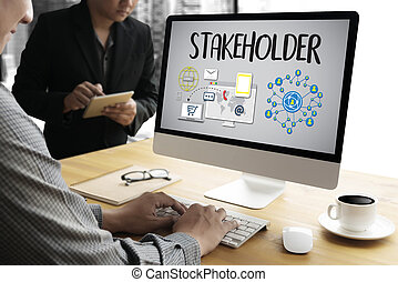 STAKEHOLDER , engagement concept , strategy mind map,...